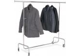 Wieszak na ubrania chrom 1 poziom regulowany PROVOST