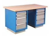 Stół warsztatowy + 2 szafki z 4 szufladami 100/100/200/200 PROVOST