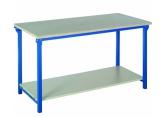 lekki stół warsztatowy z dolną półką