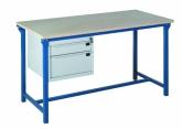 Lekki stół warsztatowy z dwoma szufladami PROVOST