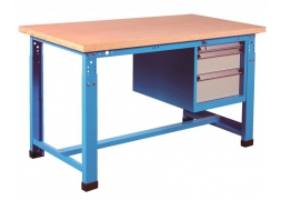Stół warsztatowy z regulacją wysokości +blok 3 szuflad PROVOST