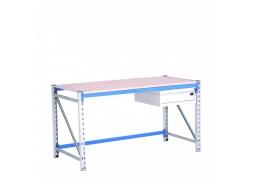 Stół warsztatowy 300 kg  na konstrukcji regałowej z pojedynczą szufladą PROVOST